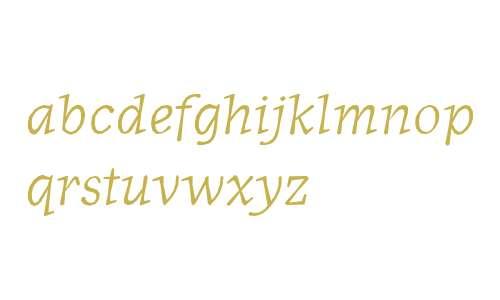 JournalItalicOldstyle Italic