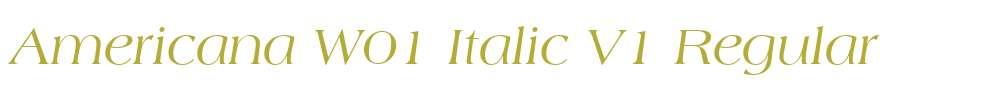 Americana W01 Italic V1