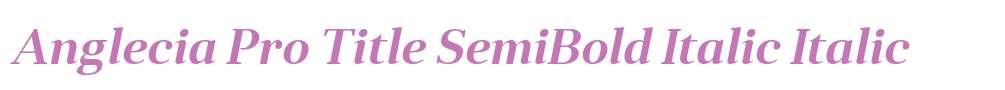Anglecia Pro Title SemiBold Italic