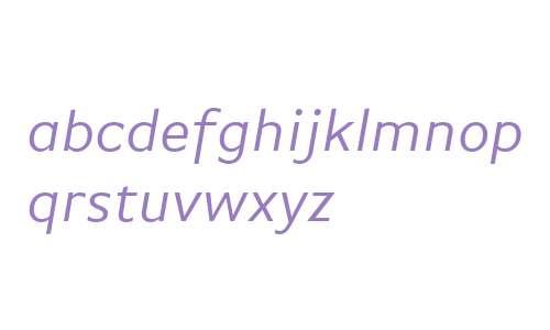 BasicGothicWeb W03 Italic
