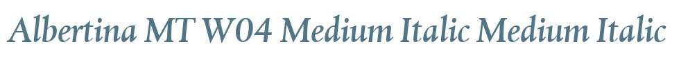 Albertina MT W04 Medium Italic