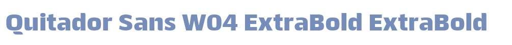 Quitador Sans W04 ExtraBold