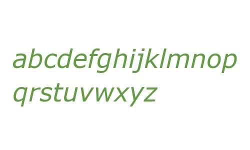 Verdana Pro Italic