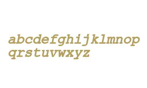ER Kurier KOI-8 Bold Italic