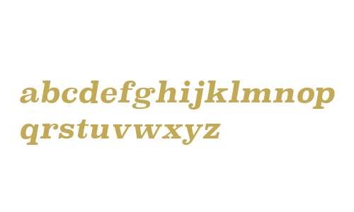 Superclarendon W00 Bold Italic