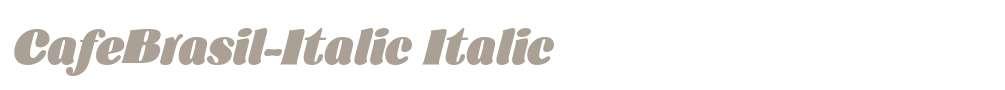 CafeBrasil-Italic
