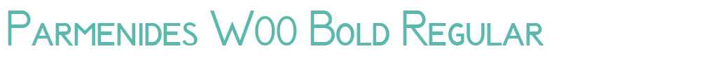 Parmenides W00 Bold