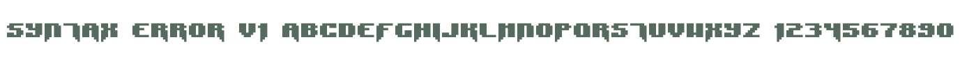 Syntax Error V1