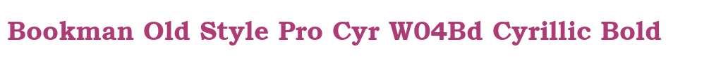 Bookman Old Style Pro Cyr W04Bd