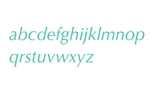 OptimaLTStd-Italic