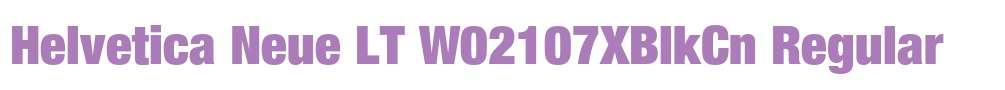Helvetica Neue LT W02107XBlkCn