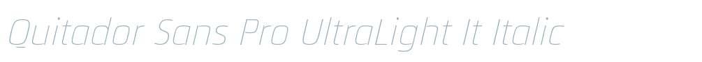 Quitador Sans Pro UltraLight It