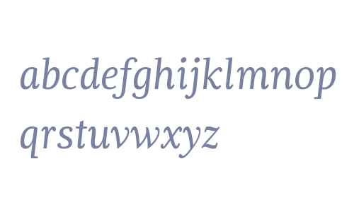 Dorica W01 Regular Italic