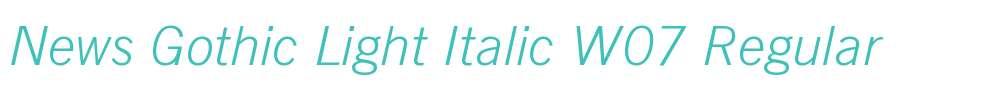 News Gothic Light Italic W07