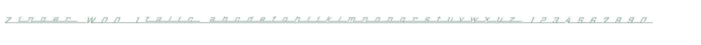 Zinger W00 Italic
