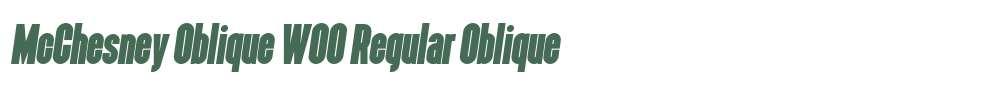 McChesney Oblique W00 Regular