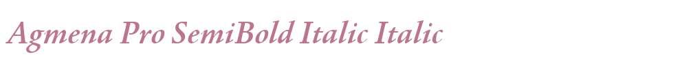 Agmena Pro SemiBold Italic