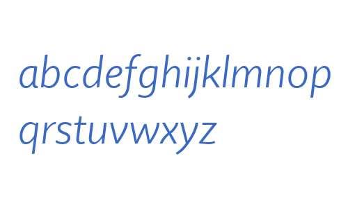 Quire Sans W04 Light Italic