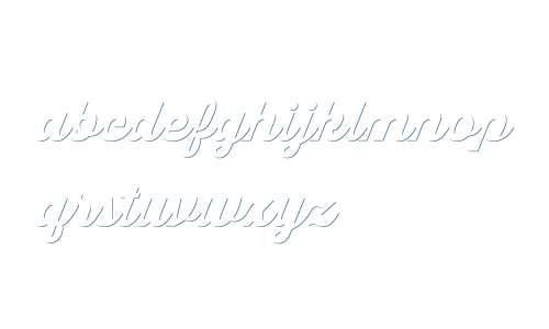 Thirsty Script W01 Blk Shdw