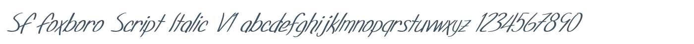 SF Foxboro Script Italic V1