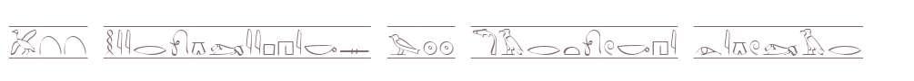 P22 Hieroglyphics W00 Cartouche