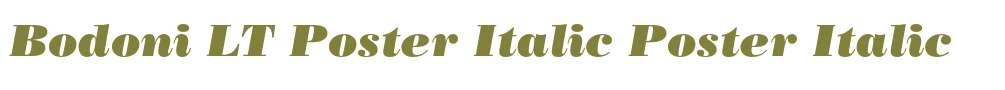 Bodoni LT Poster Italic