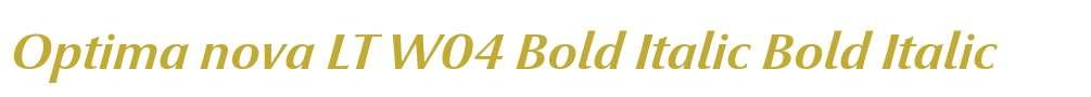 Optima nova LT W04 Bold Italic