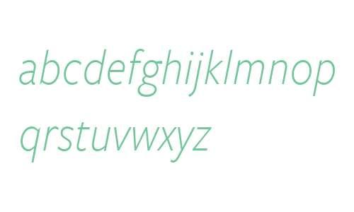 FreightSansCnd W03 Light Italic