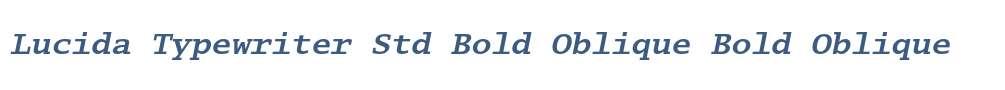 Lucida Typewriter Std Bold Oblique