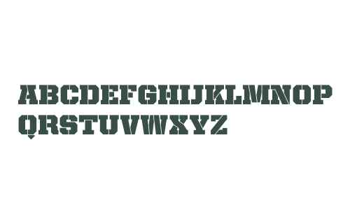 United Serif Reg Stencil