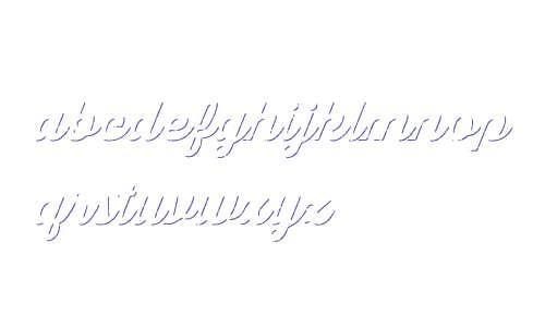 Thirsty Script Rgh W03 Blk Shdw