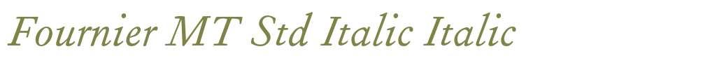 Fournier MT Std Italic