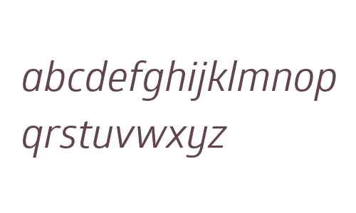 Glober W01 Regular Italic