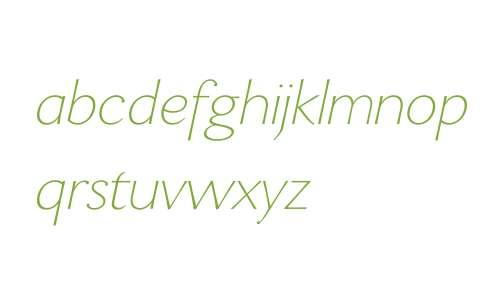 Enzia W00 Thin Italic