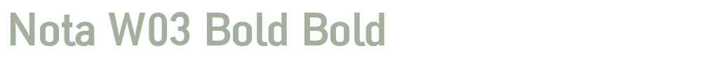 Nota W03 Bold