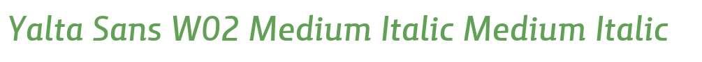Yalta Sans W02 Medium Italic