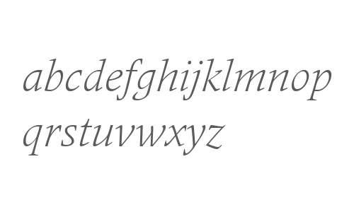 Frutiger Serif LT W04 Light It