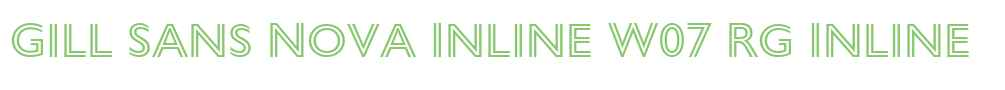 Gill Sans Nova Inline W07 Rg