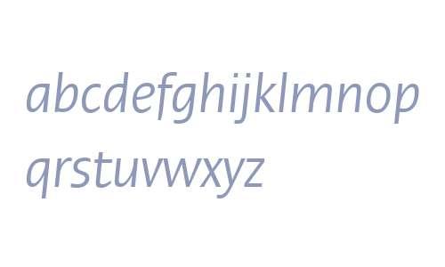 Ergo LT W04 Condensed Italic