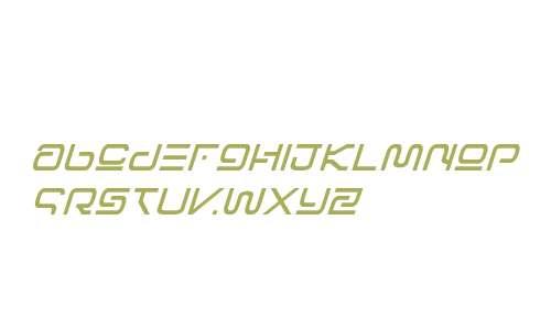 Foreign Alien Semi-Bold Italic