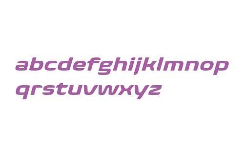 Biome W04 Bold Wide Italic