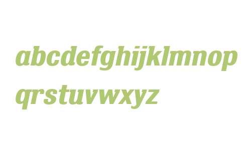 Bulldog Slab W01 Bold Italic