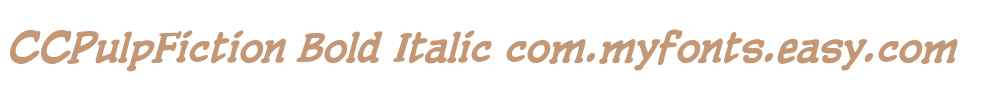 CCPulpFiction Bold Italic