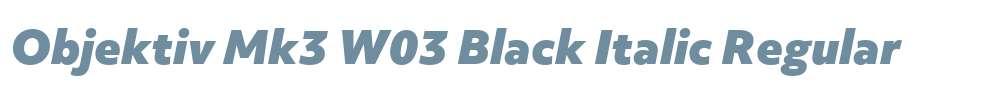 Objektiv Mk3 W03 Black Italic