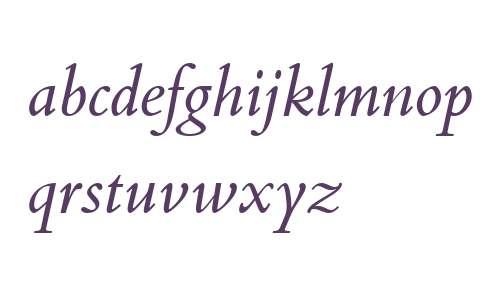 Bembo Book W04 Italic