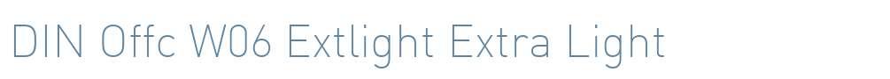 DIN Offc W06 Extlight