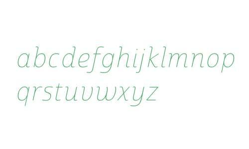 Marintas W01 Thin Italic