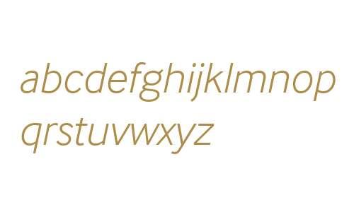 InterFace W06 Light Italic