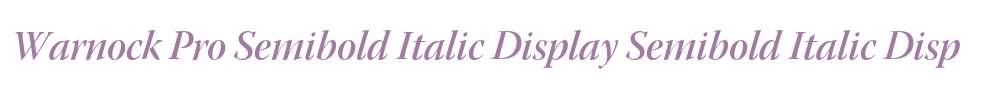 Warnock Pro Semibold Italic Display