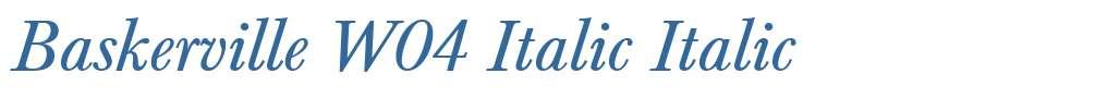 Baskerville W04 Italic